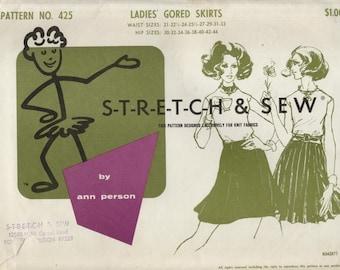 Stretch & Sew Pattern No. 425--Uncut--Ladies' Gored Skirts