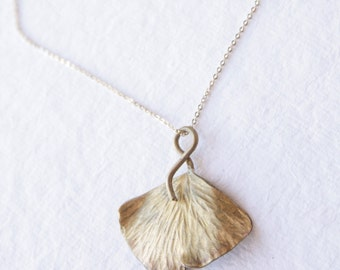 New Gold Ginkgo Pendant