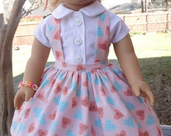 """18"""" Doll Clothes 1950's Style Blouse and Jumper Fits American Girl Maryellen"""