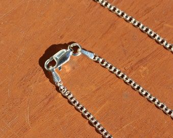 36 inch Rolo Italian Sterling Silver Chain Necklace with Sterling Lobster Claw Clasp Free Shipping USA