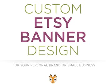 Custom Etsy Shop Cover Photo Banner & Shop Icon Set | Personalized Professional Storefront Graphic Design Avatar | Shop Business Branding