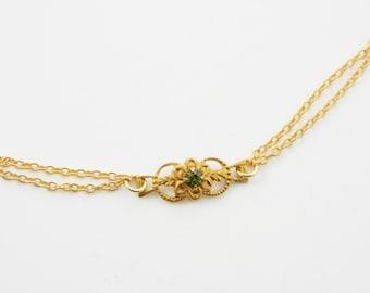Gold Edwardian Peridot Bracelet