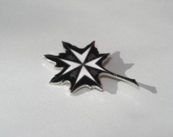 Dom Regalia Blue Pin Brooch - Canadian Crest Jewelry 1960s