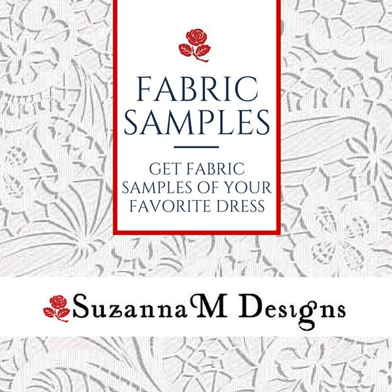 Get fabric sample swatches of your favorite wedding dress by for Wedding dress fabric samples