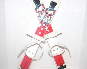 Vintage Childrens Clown Skies, By Propos, Czech Republic, Antique Alchemy