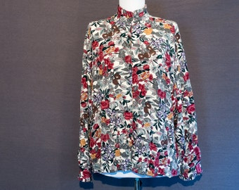 Vintage blouse - 1980s - Outback Red