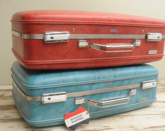 Vintage American Tourister Suitcase RED