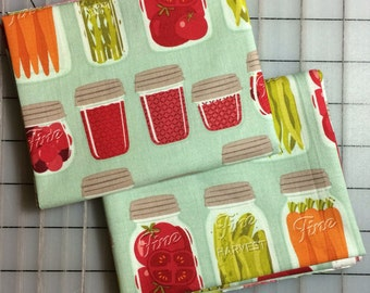 Riley Blake - Farm Girl by October Afternoon  -FAT QUARTER cut - C5021 in Teal  -   100% cotton