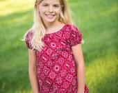 Size 10 - Girl's Peasant Top - Peasant blouse - Bandana Peasant Top - Western Shirt - Girls Ruffle Peasant Shirt - Girls Boutique