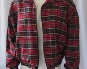 Jacket Vintage 70s Hanasport  Silk Plaid Jacket California Retro Vintage Hip Hop Hipster