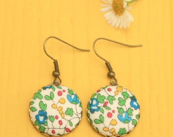 Liberty Fabric Earrings in Eloise
