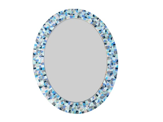 Large oval mirror decorative wall mirror mosaic mirror for Fancy oval mirror