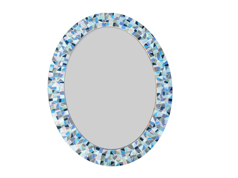 Large oval mirror decorative wall mirror mosaic mirror for Mosaic mirror