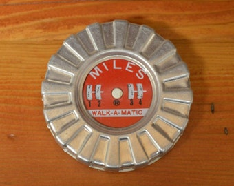 Vintage Walk A Matic pedometer, vintage toy, exercise, fitness, toy for runners, joggers, walkers