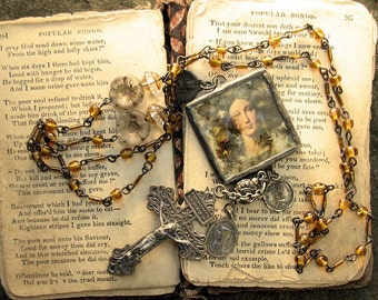 Soldered Religious Virgin Mary Necklace