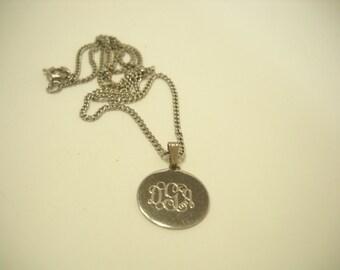 Vintage Momogrammed--GDA-- Pendant Necklace (8223)