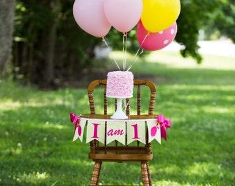 PINK LEMONADE BANNER / 1st birthday banner / Pink lemonade birthday banner / First birthday girl. Pink lemonade birthday party. 1st birthday