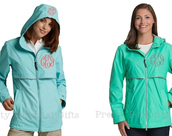 New Englander Rain Coat Rain Jacket with monogram