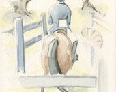 Horse Art, Hunter, Field Hunter by Anna Noelle Rockwell, original watercolor painting