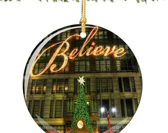 Macy's Believe Christmas Ornament