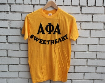 Vintage ALPHA PHI ALPHA Sweetheart shirt Stedman tag Athena #10 college university African American fraternity clothing