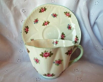 Rosebud by Shelley Tea Cup and Saucer