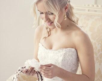 Pearl hair crown, pearl headpiece, wedding headband, bridal headband, bridal headpiece, wedding headpiece, wedding hair accessories