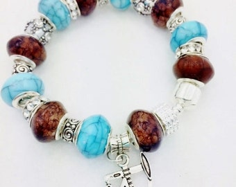 Oil Well European Style Charm Bracelet