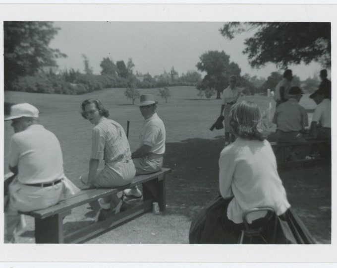 Vintage Snapshot Photo: Golf Game, c1950s (68495)