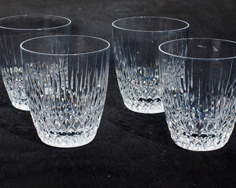 """Rogaska """"Vogue"""" Double Old-Fashioned Lead Crystal Tumblers Set of Four"""