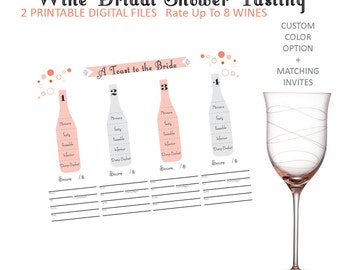 Beer Tasting Rating Sheet Score Card For Up To 8 Beers