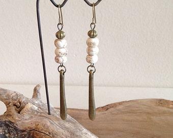 Boho Bronze Goddess Earrings