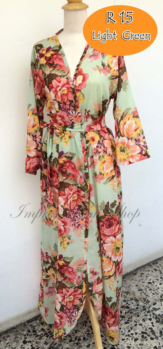 Ankle Length Floral Maternity Robe For Delivery Any Color