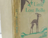 Little Lost Bobo. Woodland Frontier Series. Vintage Children's Hardback Book. Circa 1950's. Retro Nursery Decor. Bedtime. Story Time..