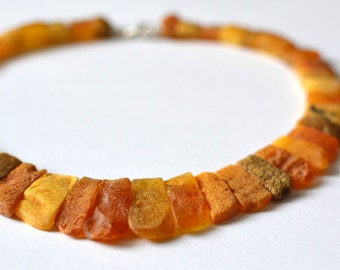 Genuine Amber Necklace Raw Baltic Amber Jewelry