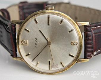 vintage doxa watch - fine swiss watch - 1960's doxa cal. 103