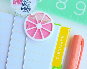 cherry pink / taste and see - inspirational planner /bible journaling jumbo paper clip