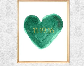 Green Wedding, Emerald Wedding, Emerald Green Wedding, Emerald Wedding Decor, Emerald and Gold Wedding, Emerald Bridal Shower Gift, Fall