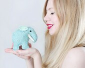 Woolly Mammoth Plushie - Mohair toy - Elephant Plushie - Handmade