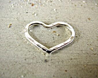 Add-On Heart Charm, Silver Heart Charm, Dangling Heart, Gold Heart Charm, Heart Pendant, Heart Slide, Love Pendant, Lavaliere