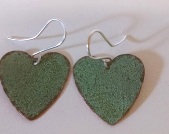 Maine State House Copper Roof Medium Heart Earrings Limited Edition RM