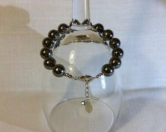 Pyrite & Sterling Silver Bracelet