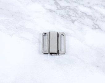 "1 Set Silver Nickel Free Front Closing Bra Hook Closure 1/2"" wide Bra Making Lingerie Sewing  Bramaking"