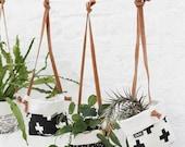 Swiss Cross Hanging Soft Pot - Hanging Plant Fabric Bucket.