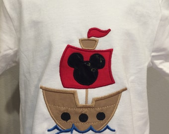 Mickey or Minnie Mouse Pirate ship shirt
