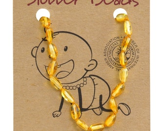 Lemon  Baby Amber Necklace