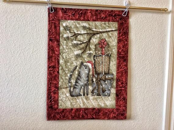 Primitive Christmas Wall Decor : Primitive christmas holiday wall hanging cat by goodiesbyjamie