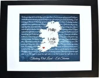 Wedding song lyrics, personalized wedding gift, wedding song art, anniversary gift, wedding song print, song lyric gift art, wedding song