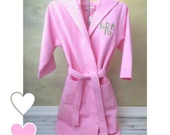 Flower Girl Robe, Junior Bridesmaid Robe, Flower Girl Gift, Junior Bridesmaid Gift, Wedding Day Robes, Waffle Weave Robe, Robes for Girls