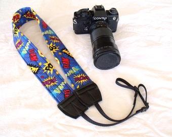 Comic Words Camera Shoulder Neck Strap Padded Adjustable